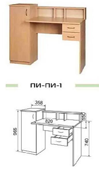 Схема сборки стола пи-пи